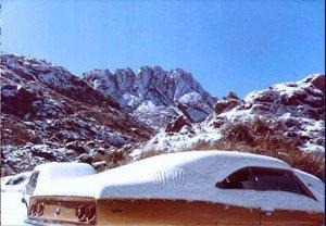 Neve no Pq. Nac. do Itatiaia/RJ em 1985